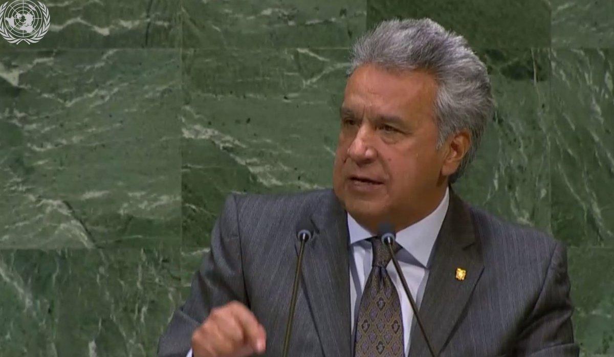 (EN VIVO) Lenín Moreno en la ONU: Sobre la situación crítica de Venezuela, dijo que 'nadie emigra por voluntad propia' y citó al escritor cubano José Martí: Cuando un pueblo emigra, sus gobernantes sobran ► https://t.co/KOKMDYsAAv