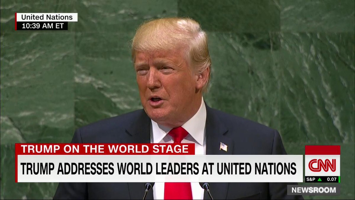President Trump is speaking to world leaders at the UN General Assembly.   Watch: https://t.co/UYpqI3w42L Live updates: https://t.co/p4uckNJ80X