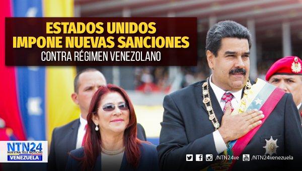 Estados Unidos impuso este martes nuevas sanciones contra contra la primera dama venezolana, Cilia Flores y altos funcionarios del gobierno de Nicolás Maduro https://t.co/99ZQh62Bit
