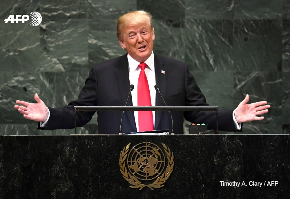 #BREAKING President Trump tells UN of 'bold push for peace' with North Korea