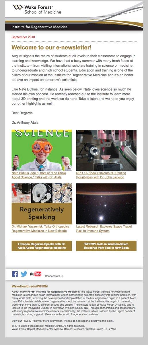 Wake Forest Institute for Regenerative Medicine on Twitter
