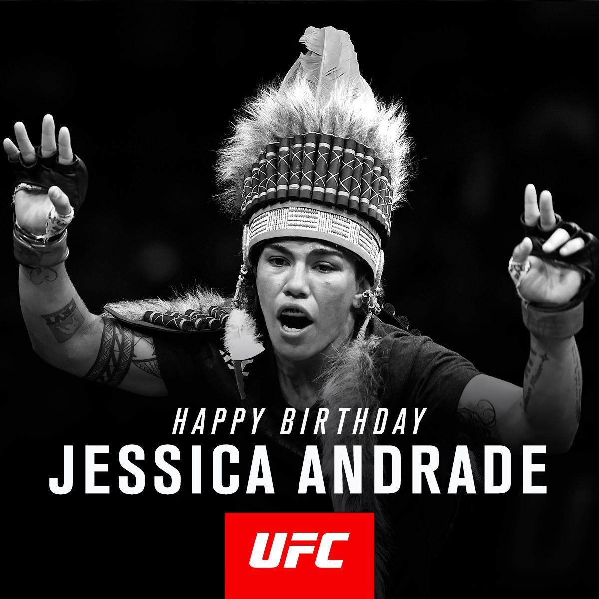 Wishing a very Happy Birthday to @JessicaMMAPro!�� https://t.co/N33ALW8FVs