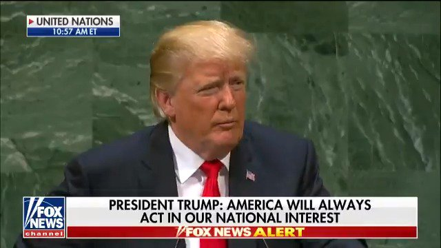 ".@POTUS: ""We will never surrender America's sovereignty to an unelected, unaccountable, global bureaucracy."" #UNGA https://t.co/qeC5So08jh"