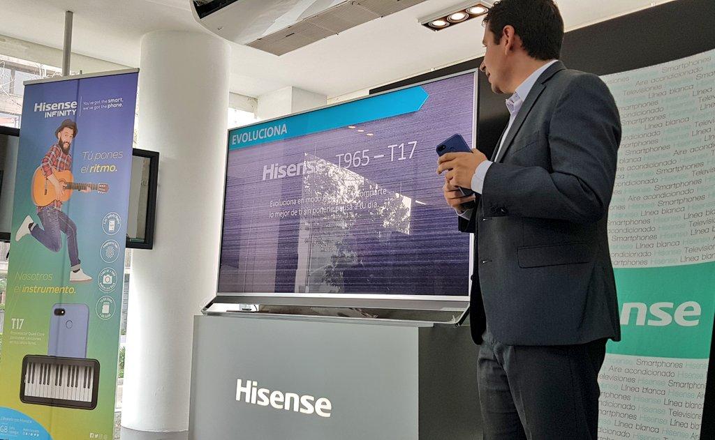 Presentación de los nuevos smartphone @Hisense_Mexico en conjunto