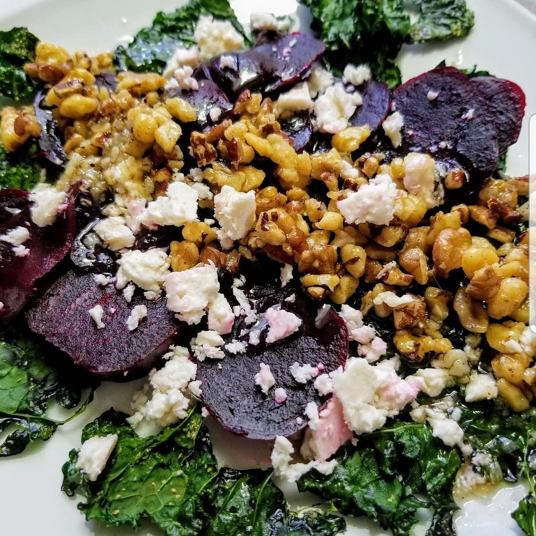 #Kale and #Beet #Salad with Walnuts #RecipeOfTheDay #healthyeating #homecook #foodie  https://t.co/8CM51dL6cM https://t.co/iD3pNrwP3X