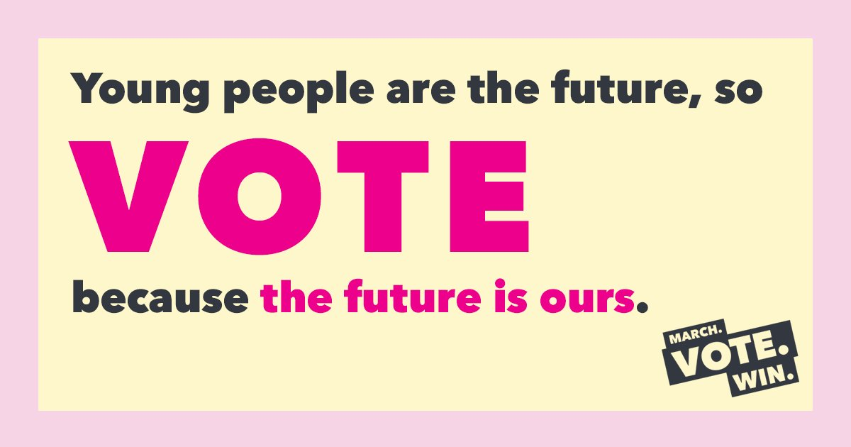 Hey young people, we're going to be the LARGEST generation in the electorate soon. Let's flex our power on Nov. 6 and show them what we got.   Make sure you're registered to vote: https://t.co/tmPTP9psC8 #VoterEmpowermentDay @theAWParty