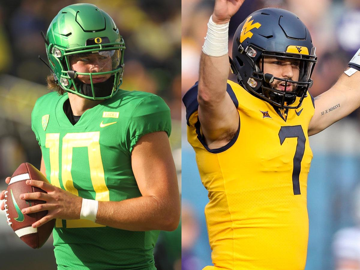 Top 25 prospects 2.0! (via @MoveTheSticks + @BuckyBrooks)  SIX QBs in the top 20, including @WinTheDay's Justin Herbert and 's . @WVUfootball FU@willgrier_LL RANKINGS: https://t.co/RU3pD8ZDim