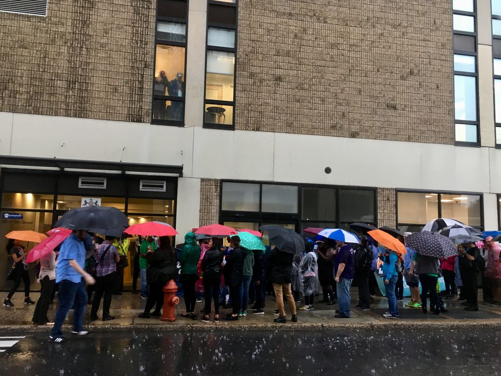 Rain wont stop us and ICE wont either!!! HAPPENING NOW! #ChingaLaMigra tour makes its final stop in Philadelphia, home to the nations most aggressive ICE office. Join Juntos & Mijente as we call on Gov. Tom Wolfe to #ShutDownBerks and to fight for all families PA! #AbolishICE