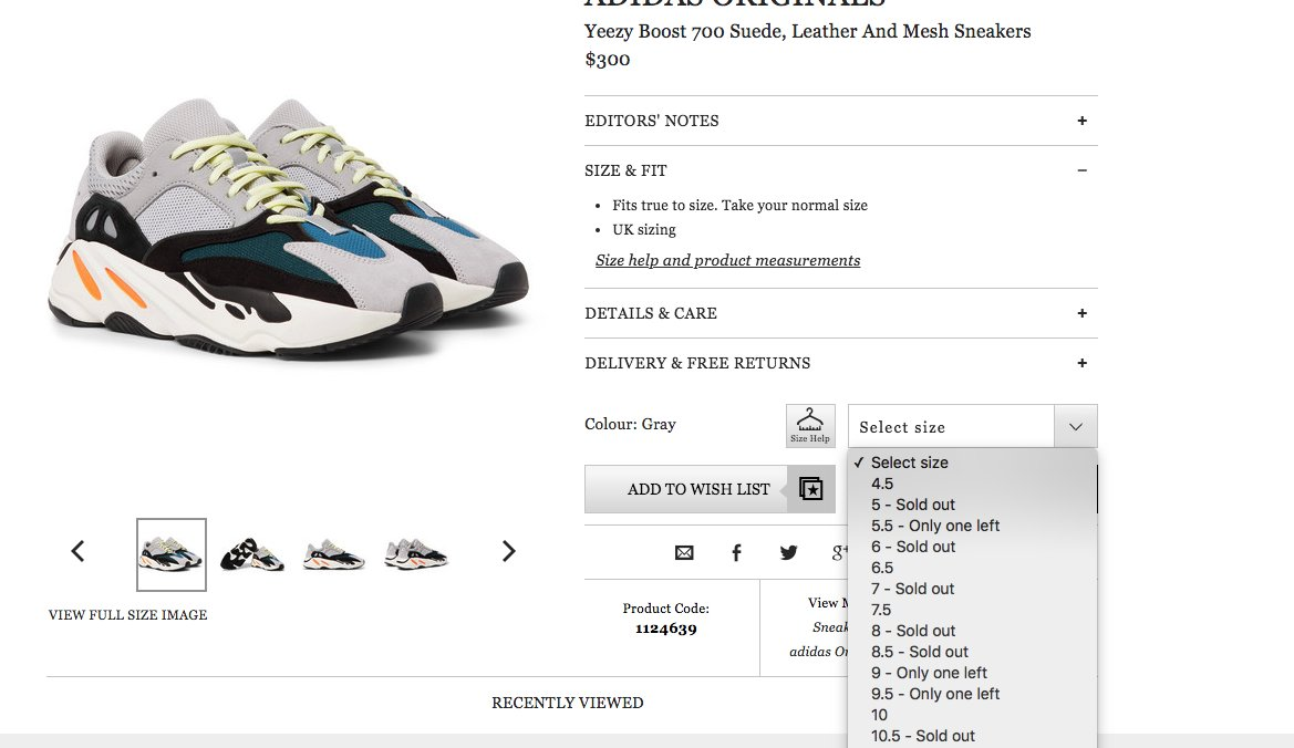 7258a9e91 Yeezy 700 Back at Mr Porter US Link   http   bit.ly 2ptU2L4 pic.twitter .com zpRxZo2Fyi