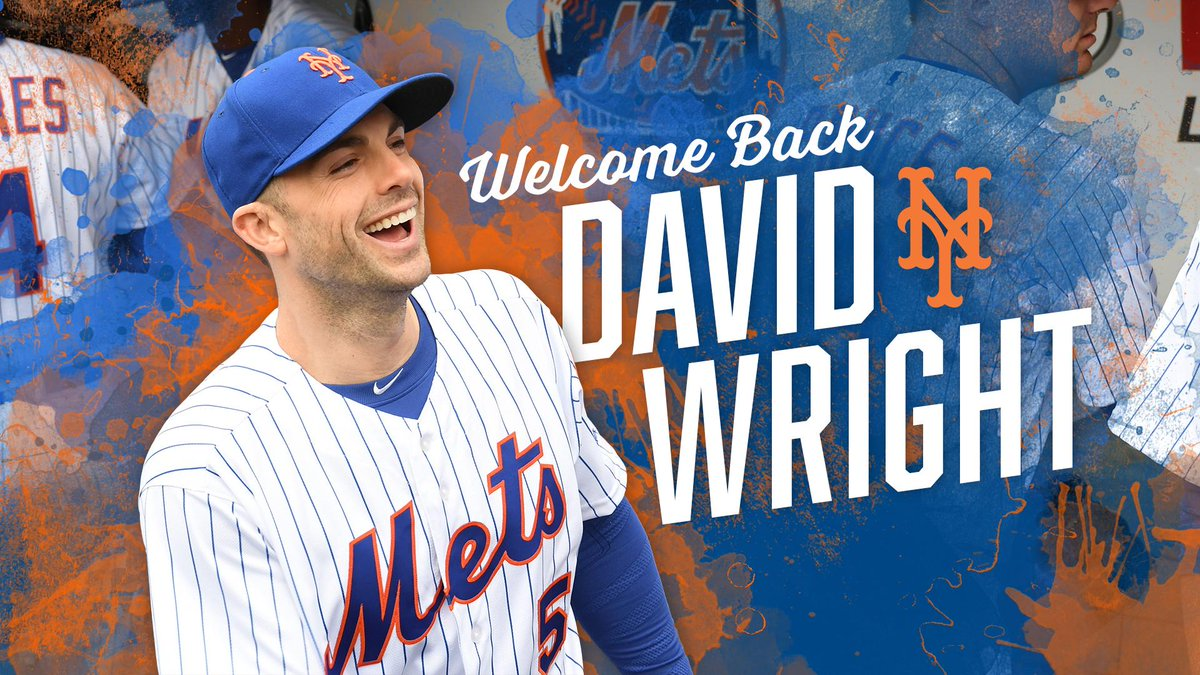 The Captain is back! We've reinstated #DavidWright from the 60-day DL. #OurCaptain