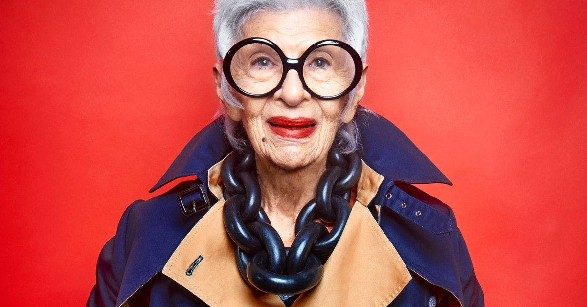 """Iris Apfel: """"Why you have to find yourself before you find your style"""" https://t.co/x4FtNkXHry"""