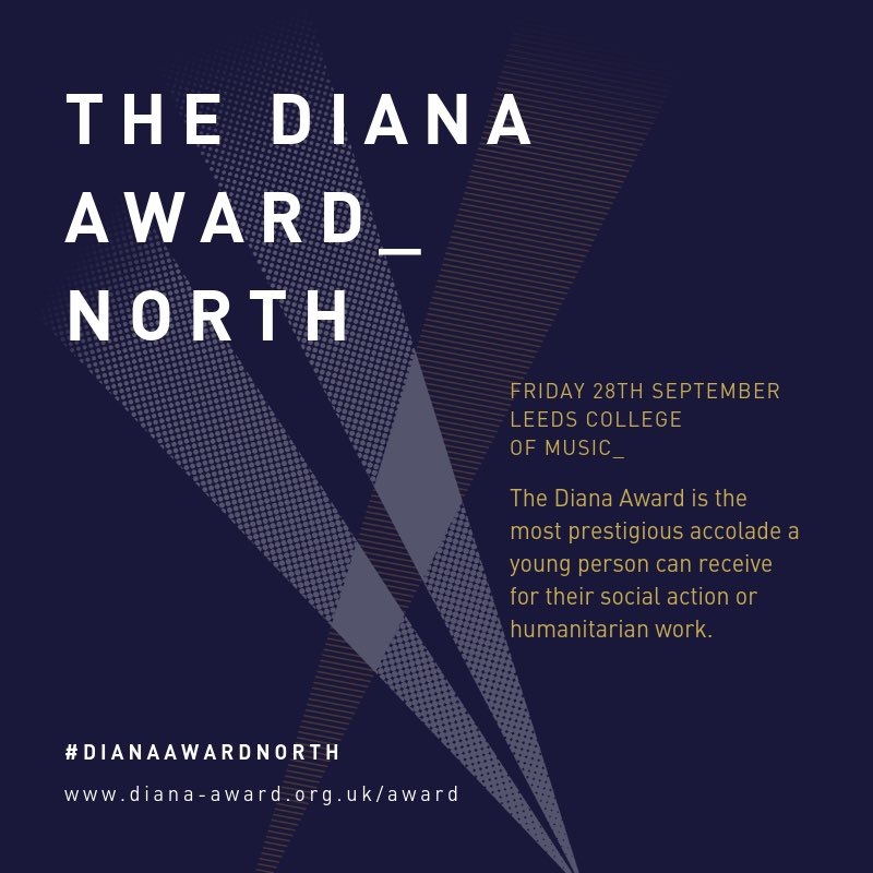 SO excited (and a little nervous) to be co-hosting the #DianaAwardNorth on 28th September! 💁🏽♂️ A day to celebrate selfless young humanitarians from across the north of England. Follow @DianaAward on the day to be inspired by young people changing the world! 👏🏾