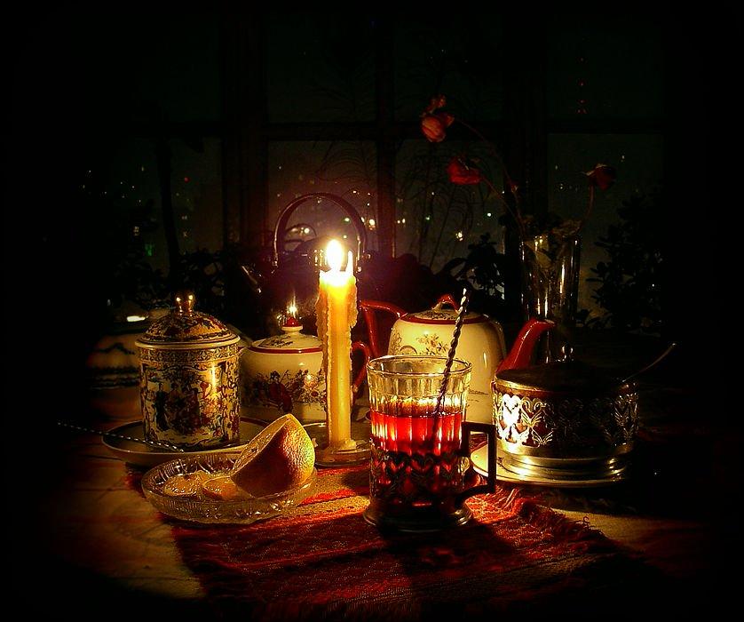 Открытка тихого уютного вечера