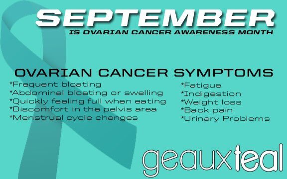 Lsu Soccer On Twitter September Is Ovarian Cancer Awareness Month To Donate Towards Finding A Cure Or To Find Out More About The Geauxteal Movement Visit Https T Co Rhhzyshufa Geauxteal Cancersucks Https T Co Hctihkls8m