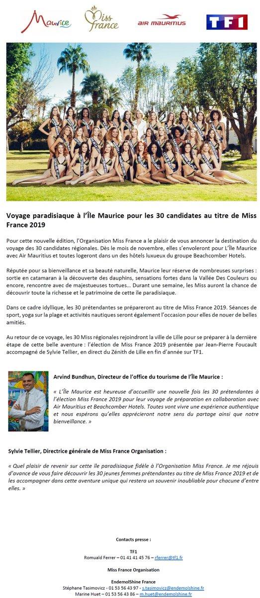 Un voyage paradisiaque attend les 30 jeunes femmes au titre de #MissFrance2019 👑 @mon_ilemaurice @airmauritius @Beachcomber_  @TF1  #IleMaurice #Voyage #BeachcomberExperience #TF1