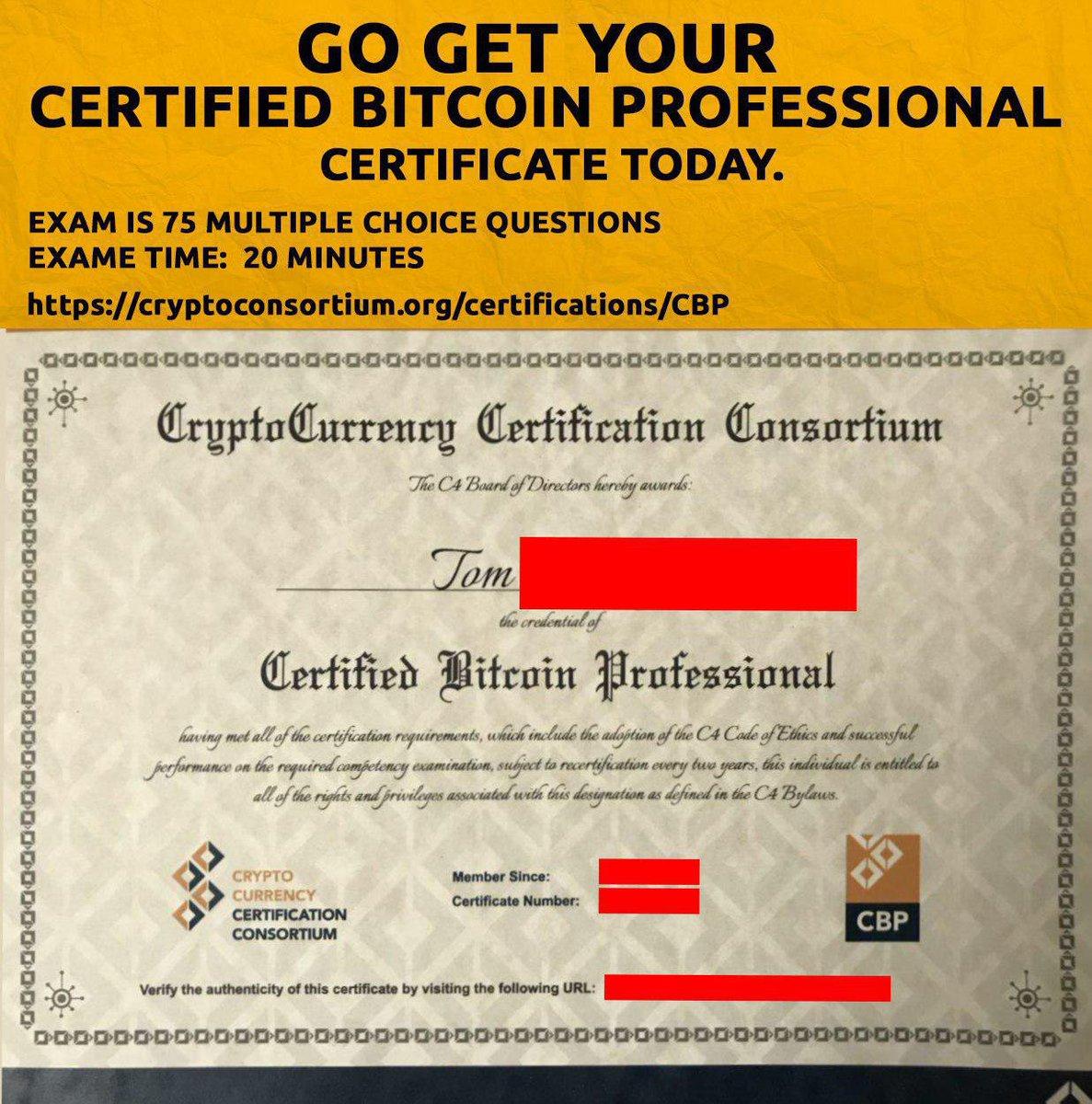 certificat btc