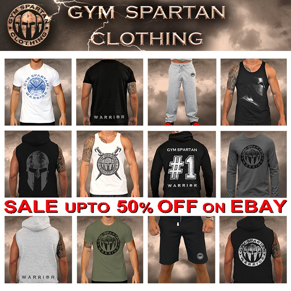 Gym Spartan Logo Black T Shirt Fitness Muscle Military Boxing MMA Running Army