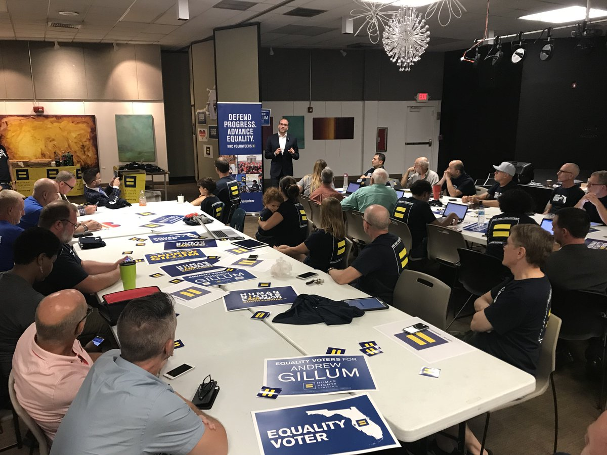 For #NationalVoterRegisterationDay, @HRC President @ChadHGriffin was on the ground in Miami and Orlando meeting with #EqualityVoters as they work to #TurnOUT the vote to elect pro-equality candidates in the Sunshine State and across the country.