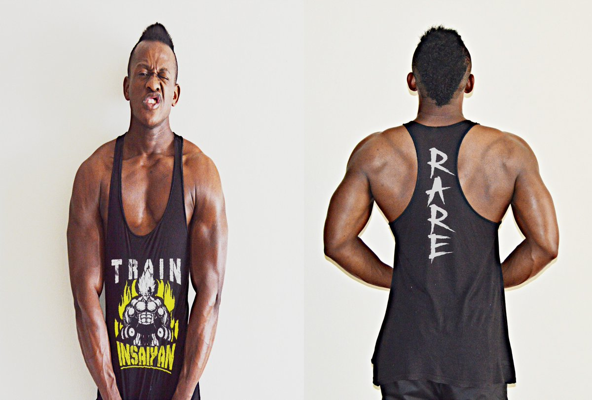 87f4a0f5 Yol still gonna sleep on these #TrainInsaiyan stringer vests by  #RareBreedApparel ? Hit the gym in style and make a statement! Order yours  today.