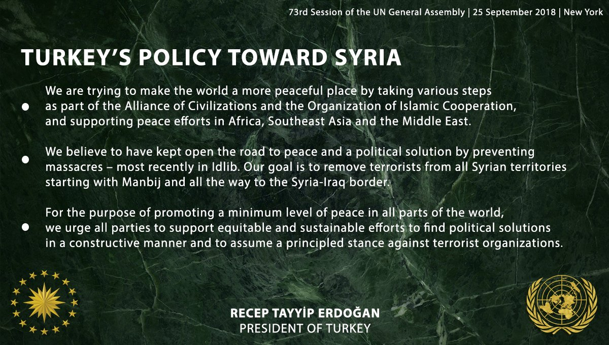 We urge all parties to assume a principled stance against terrorist organizations in Syria.   #WorldIsBiggerThan5 https://t.co/Yh1dRDqeHO