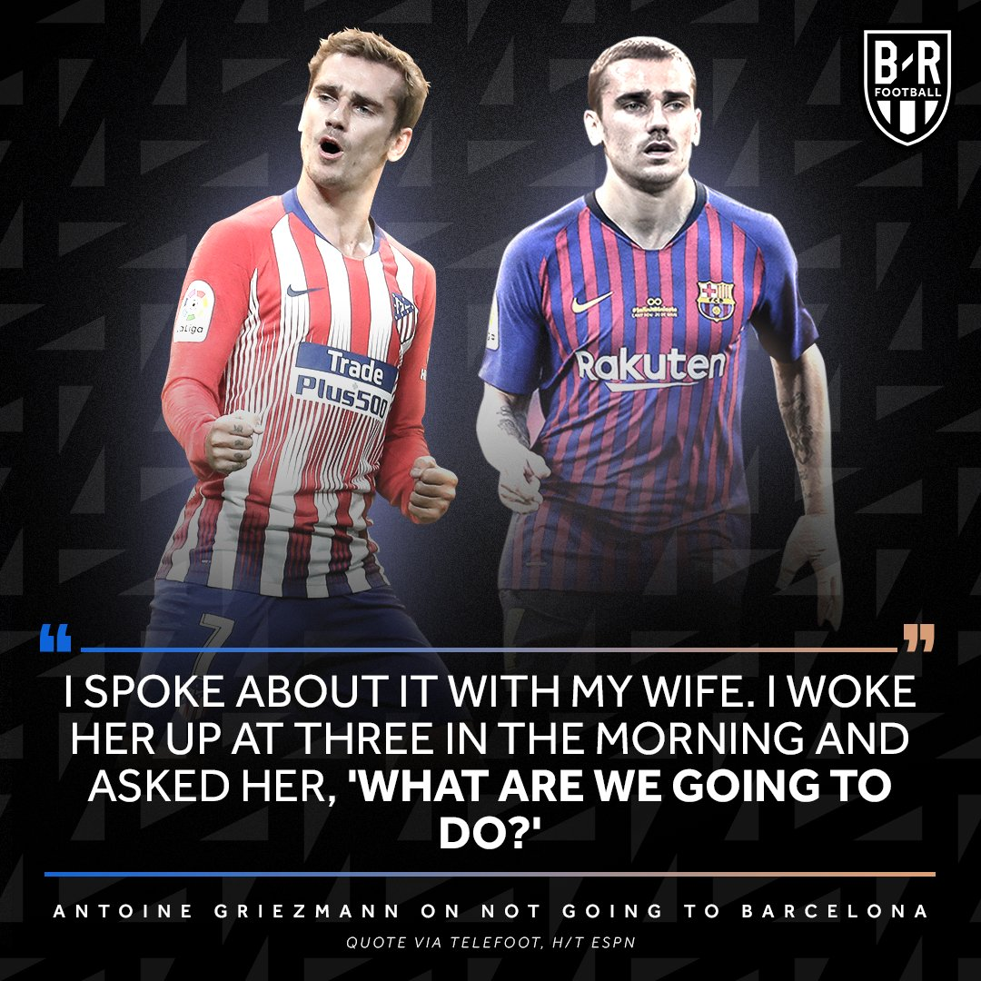 Barcelona's offer kept Antoine Griezmann up at night.