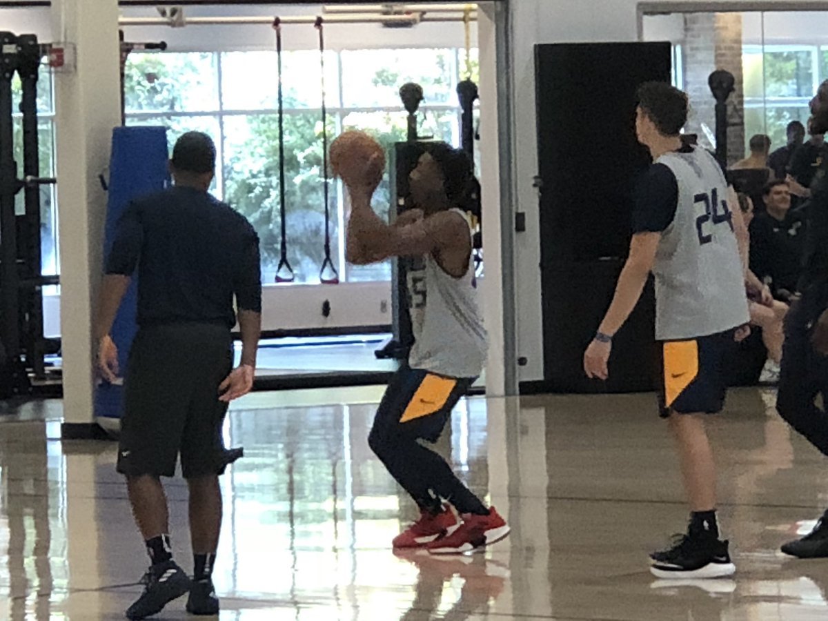 Utah Jazz guard Donovan Mitchell debuts
