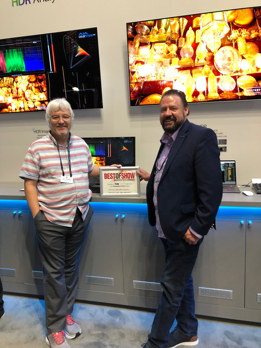 Thanks @TVBEurope for the #IBC2018 Best of Show award for HDR Image Analyzer in the Production and Post category! To learn more about HDR Image Analyzer, visit:  https://www. aja.com/products/hdr-i mage-analyzer  … <br>http://pic.twitter.com/VYrfURTxcr