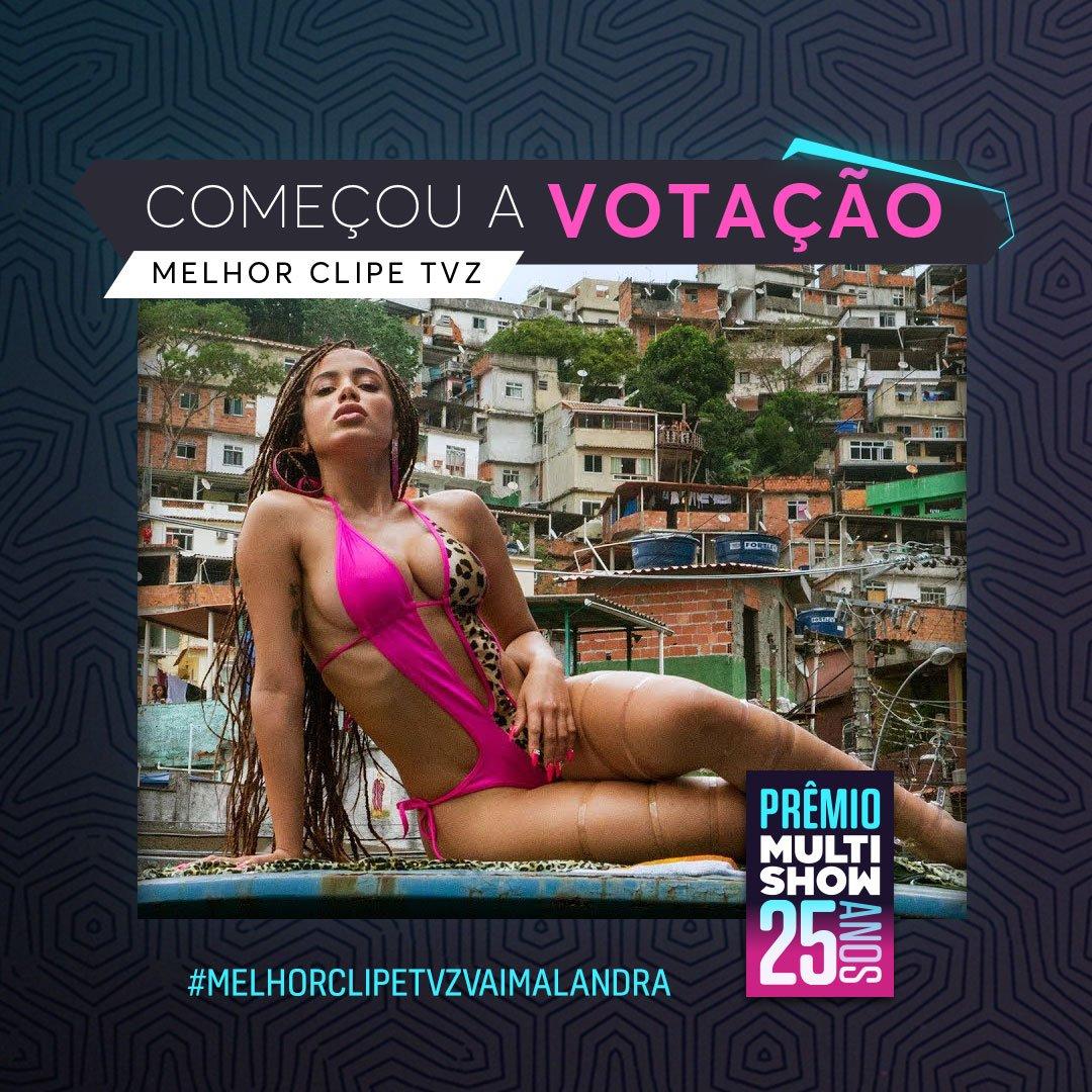Quem você quer que leve o prêmio de melhor clipe TVZ? Pra votar, use a hashtag do seu clipe favorito! o/ #PrêmioMultishow   Pra votar na @Anitta, use: #MelhorClipeTVZVaiMalandra