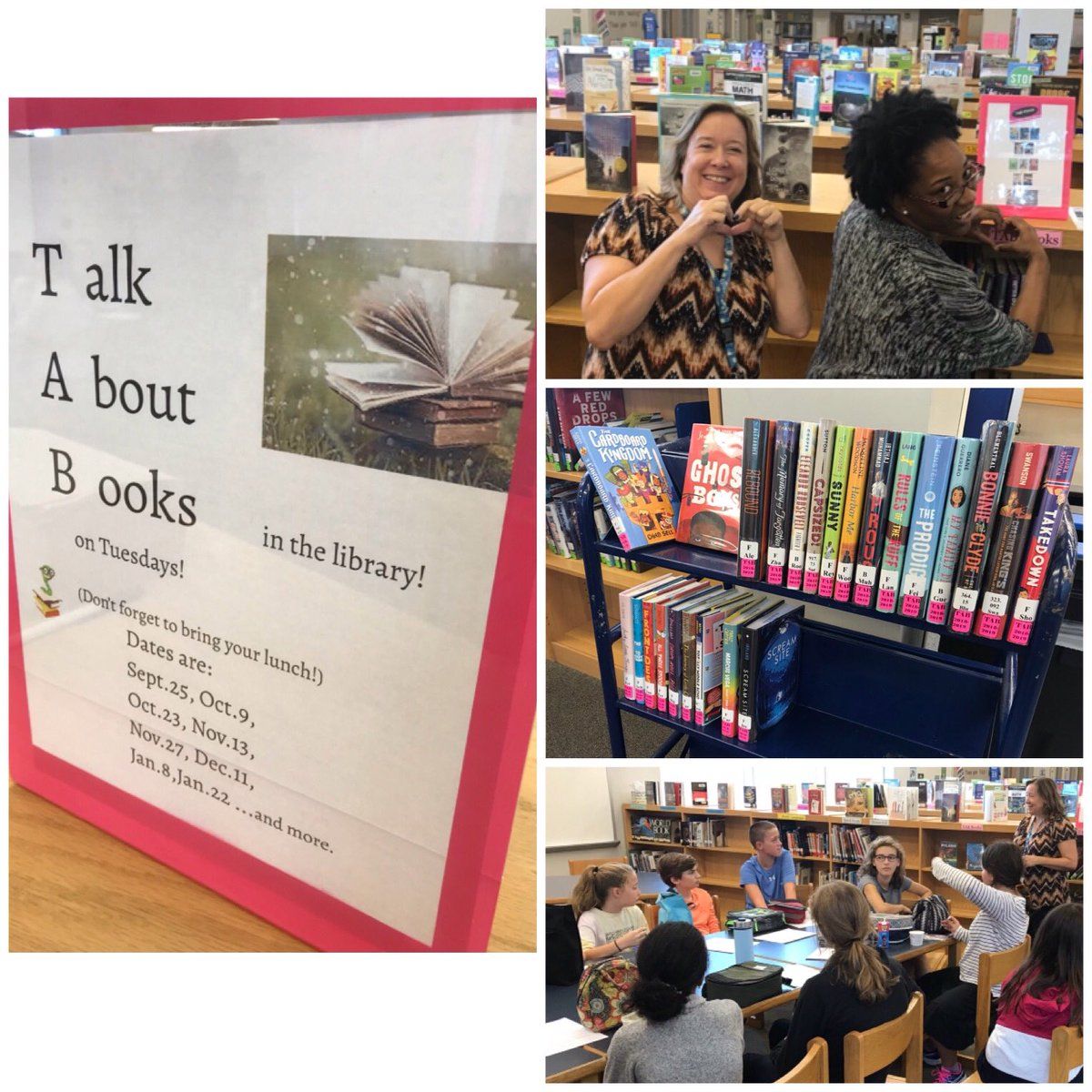 Reading rocks! Nearly 100 students -- grades 6, 7, &amp; 8 -- spent their lunchtime talking about books at the first TAB meeting of the year. Thanks Ms. Lord &amp; Ms. Schuler! <a target='_blank' href='http://search.twitter.com/search?q=WMSwolf'><a target='_blank' href='https://twitter.com/hashtag/WMSwolf?src=hash'>#WMSwolf</a></a> <a target='_blank' href='http://search.twitter.com/search?q=APSisAwesome'><a target='_blank' href='https://twitter.com/hashtag/APSisAwesome?src=hash'>#APSisAwesome</a></a> <a target='_blank' href='http://search.twitter.com/search?q=WeCan'><a target='_blank' href='https://twitter.com/hashtag/WeCan?src=hash'>#WeCan</a></a> <a target='_blank' href='http://twitter.com/WMS_WolfDen'>@WMS_WolfDen</a> <a target='_blank' href='http://twitter.com/ArlingtonVALib'>@ArlingtonVALib</a> <a target='_blank' href='https://t.co/IwfkWuauVj'>https://t.co/IwfkWuauVj</a>