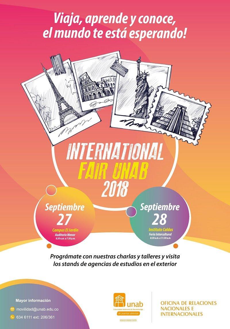 Participa en el International fair UNAB 2018