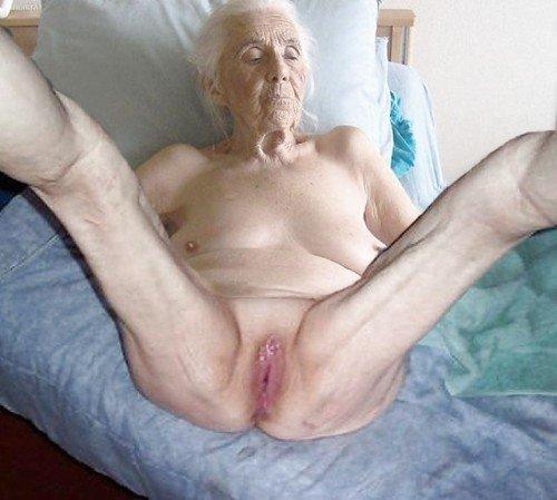 Grandma Shows Her Wrinkled Body