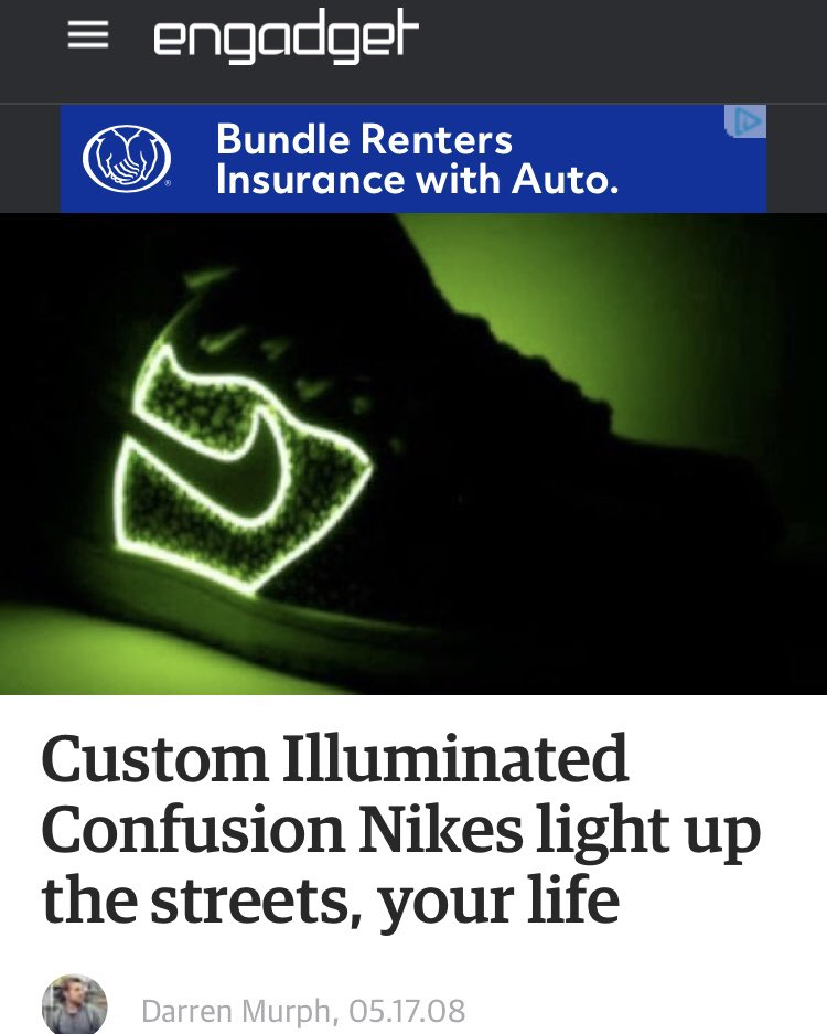 (3 4) somehow these made it outside sneaker forums   written about on the  extremely legit tech blog  engadget (thx  darrenmurph)    others.pic.twitter.com  ... 304bbca7b