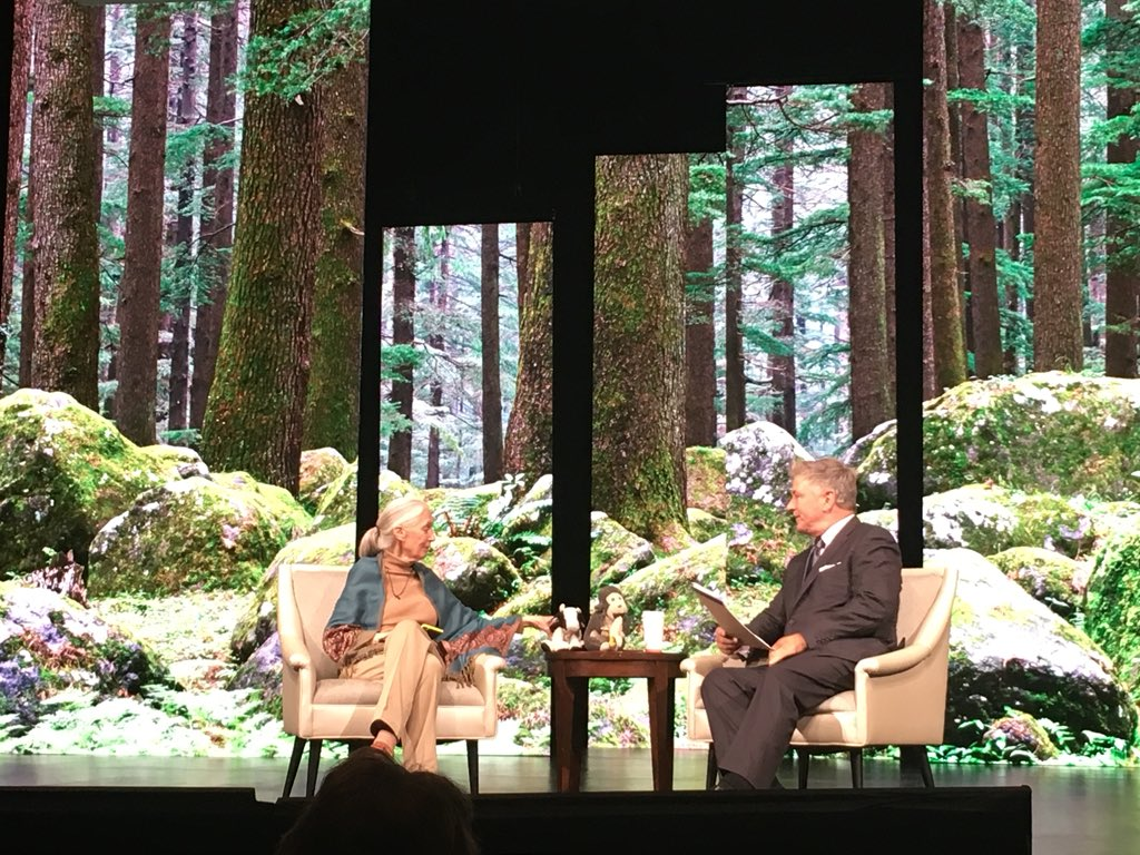 Such an honor to be listening to Jane Goodall and @AlecBaldwin talking about the importance of forest conservation and #restoration to deliver 1/3 of the climate solution @ @GCAS2018! #ForestsMatter #StepUp2018 #30x30FFL @IUCN_forests