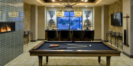 Apartmentscom On Twitter Modern Fireplace Bar Flatscreen Tv - Pool table rental atlanta