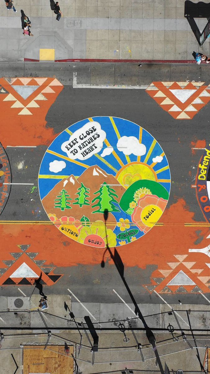Still geeking out over the cool drone footage of our #ClimateJobsJustice mural!