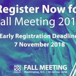 Image for the Tweet beginning: Register now for Fall Meeting