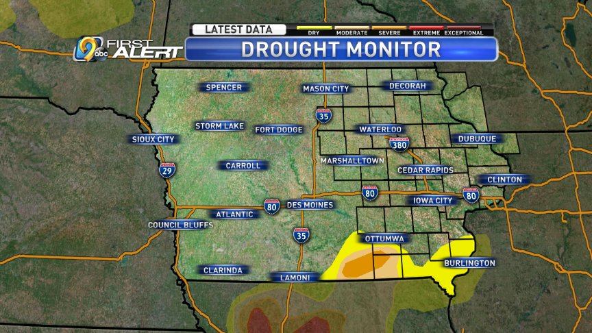 Kcrg Tv9 First Alert Weather On Twitter The Drought Monitor Map