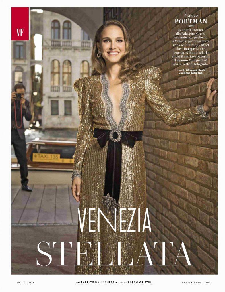 Natalie Portman on the cover of Vanity Fair Italy (2018)