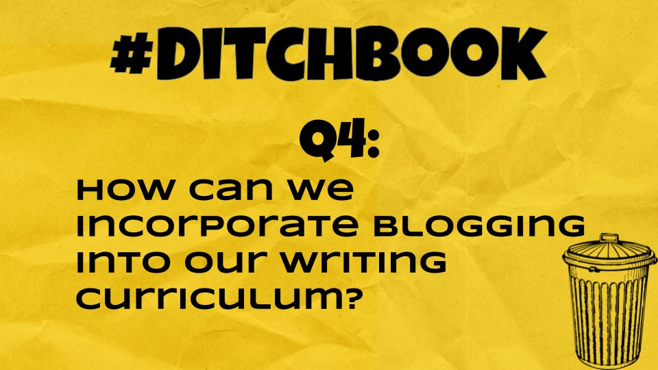 💥Here it is! ❓Question❓4 is 🆙 🚨Q4 #Ditchbook 🚨