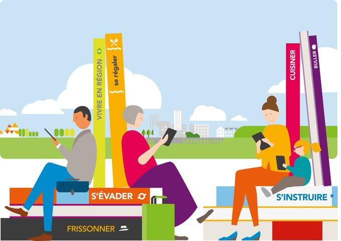 📖 Connaissez-vous e-livre, la bibliothèque digitale SNCF ? Une bibliothèque digitale offrant une sélection de livres adaptée à chacun de vos voyages en #TER ! #VendrediLecture Inscrivez-vous en ligne dès maintenant ! 👇 Photo