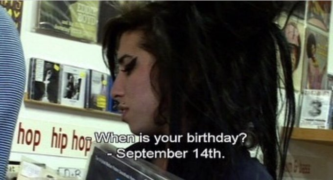 Happy (what would have been) 35th bday to Amy Winehouse!!!!  love and miss you forever