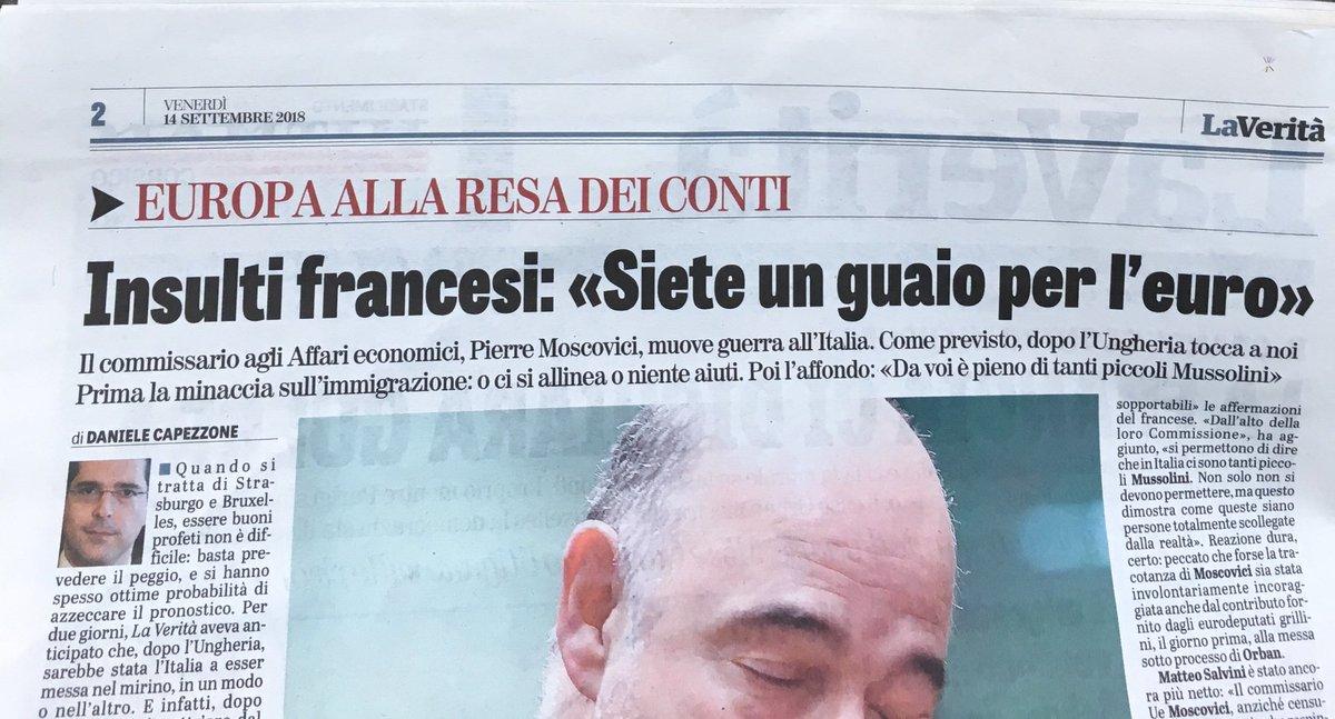 Oggi su @LaVeritaWeb Vita e opere (miracoli non risultano: solo clamorosi sforamenti del 3% quando era ministro in Francia) dell'ineffabile #Moscovici, l'uomo delle offese e degli avvertimenti contro l'Italia.  - Ukustom