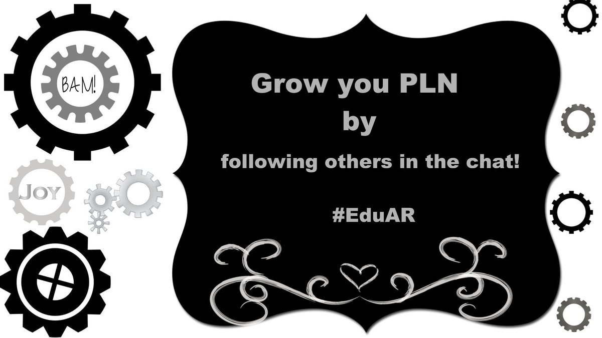 Grow your PLN tonight by following others in the chat! #EduAR