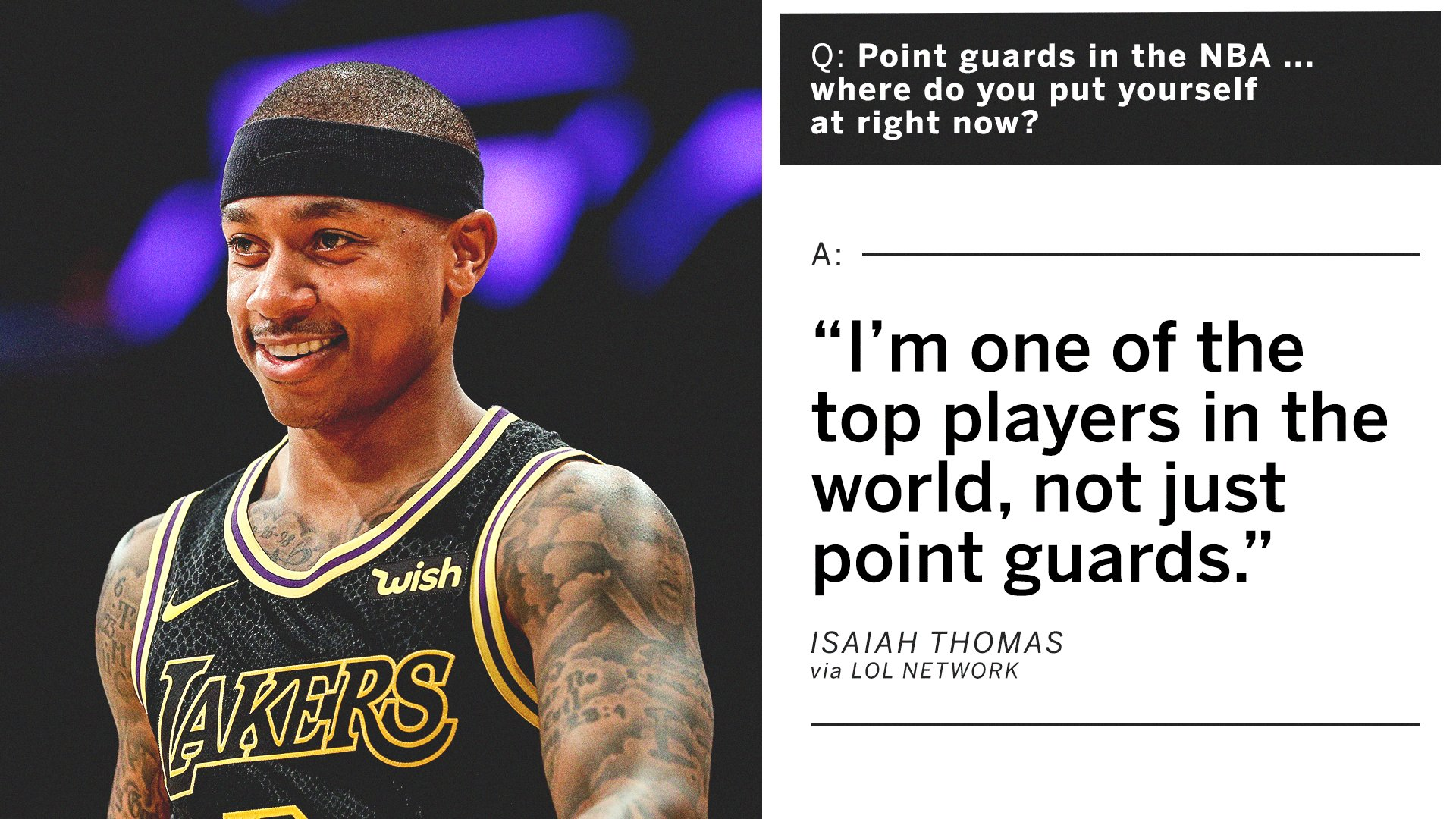 Isaiah Thomas doesn't lack self-confidence ��‍♂️ https://t.co/CojzP8VB5h