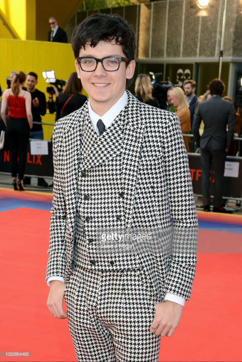 a4b9dafc via Dave J. Hogan & Victoria Jones (Getty Images) // Today, Asa Butterfield  attended the world premiere of Netflix's new show, #MANIAC at Southback  Centre ...