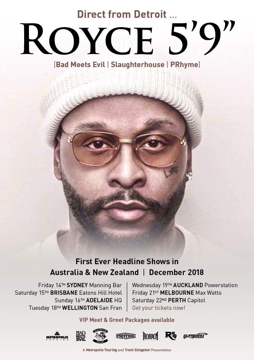 Australia & New Zealand 🛫 metropolistouring.com/royce-59-2018/