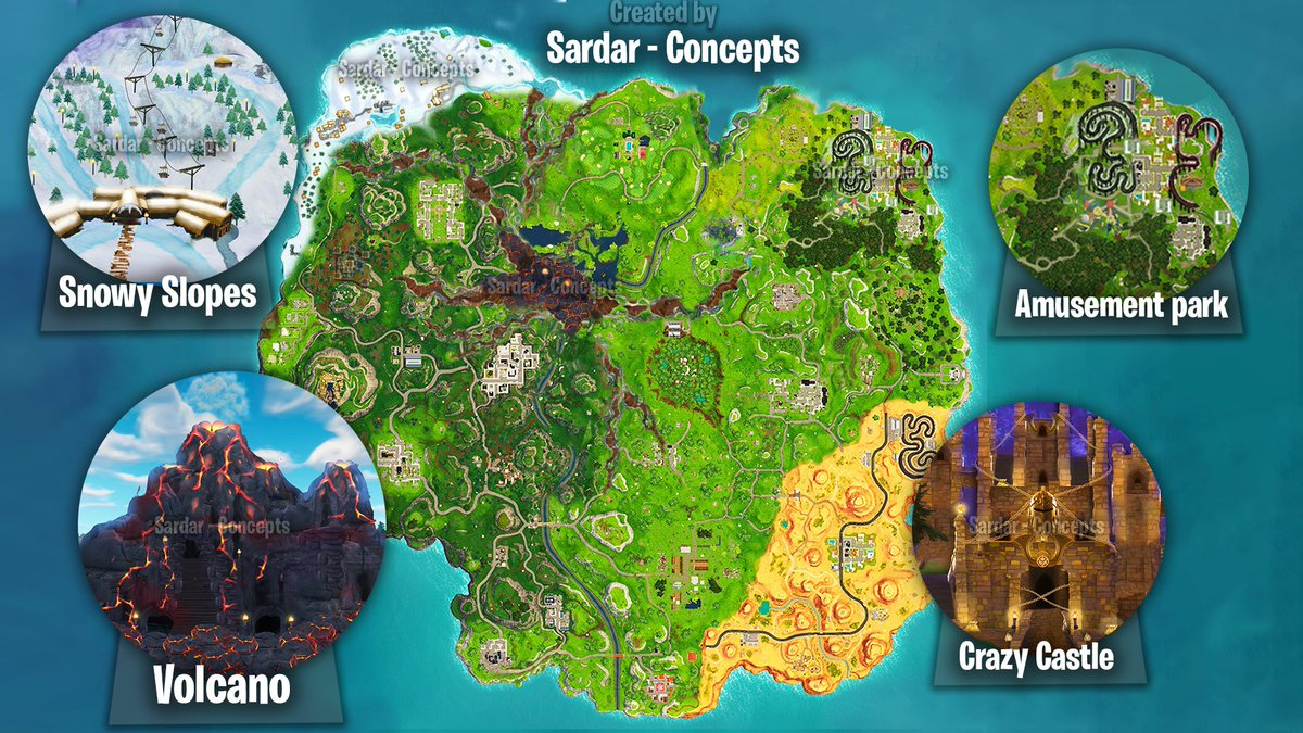 Sardar Concepts On Twitter New Season6 Fortnite Map
