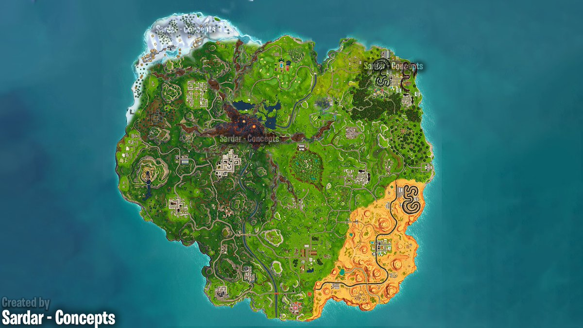 Sardar Concepts On Twitter New Season6 Fortnite Map Concept