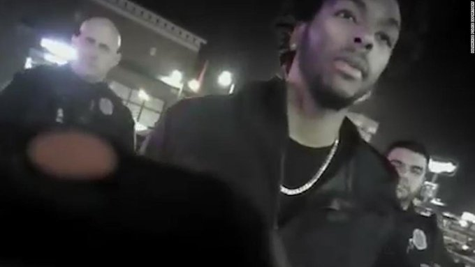 The Milwaukee Police Department said it has fired an officer for posting racist and derogatory content on social media about the arrest and tasing of NBA player Sterling Brown Photo