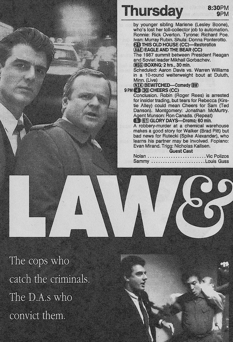 "retronewsnow on twitter: ""📺'law & order' debut (tv guide, september"